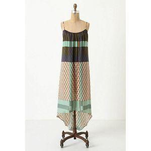 Anthro Konrad + Joseph COYA Patterned Slip Dress